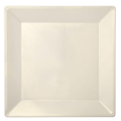 13 3/4″ Melamine Wide Rim Square Plate - Passion Pearl (6/Case)