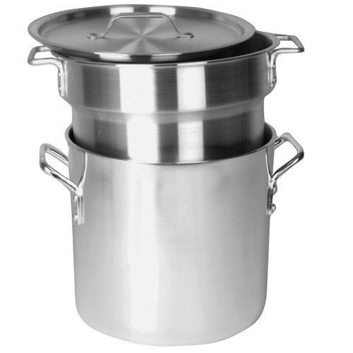 Double Boiler, 20 Qt., 3 Piece Set, Aluminum