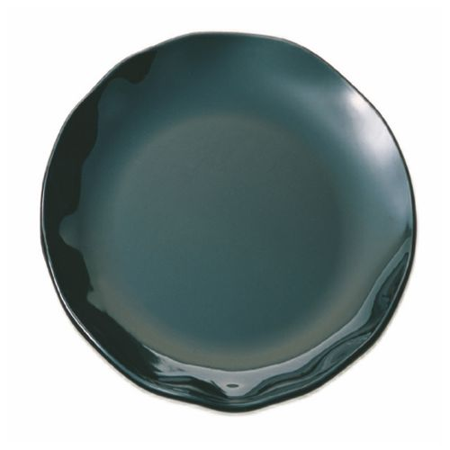 "18"" Melamine Plate - Black Pearl Two Tone"