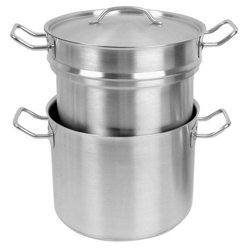 Double Boiler Set, 20 Qt., Induction Ready, Stainless