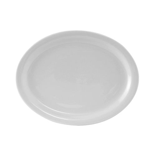 Colorado Narrow Rim Platter 9-3/4 Inch White, 2 Dz. Case