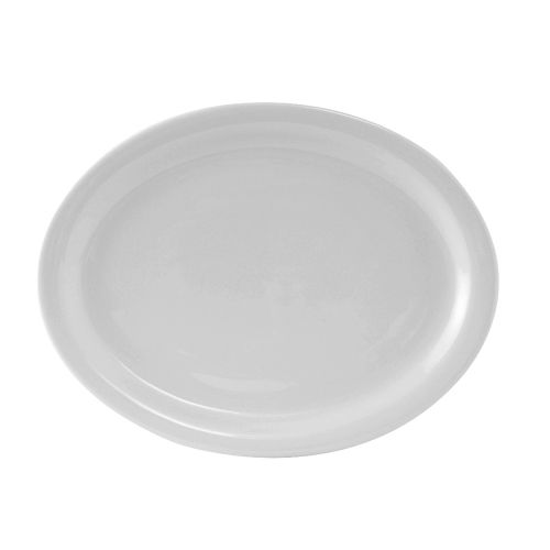 Colorado Narrow Rim Platter 11-1/2 Inch White, 1 Dz. Case