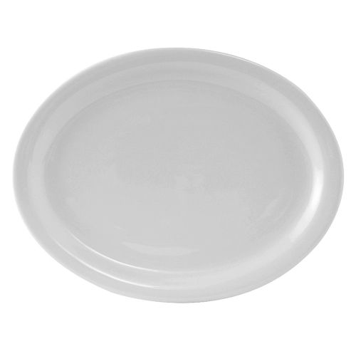 Colorado Narrow Rim Platter 13-1/4 Inch White, 1 Dz. Case