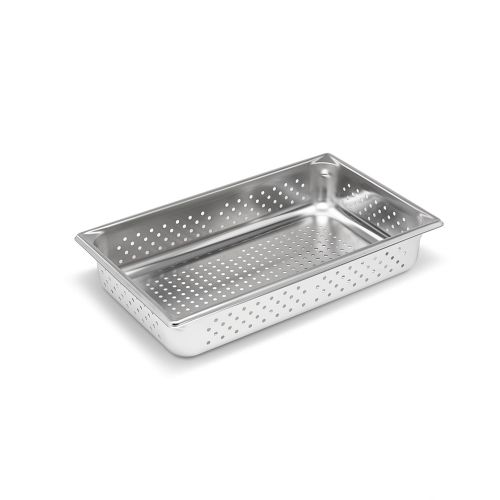 Full Size Stainless Steel Food Pan, Perforated, 4 Inch Deep