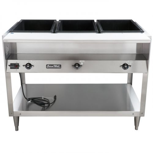 Steam Table, 3 Well, ServeWell Food Station, 120v