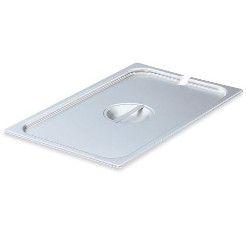 Full Size Stainless Steel Food Pan Cover, Notched
