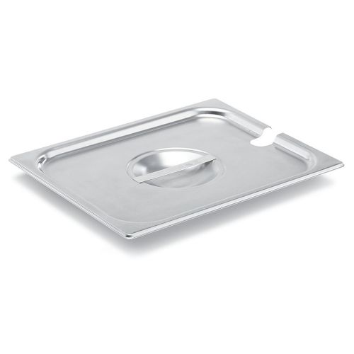 Half Size Stainless Steel Food Pan Cover, Notched