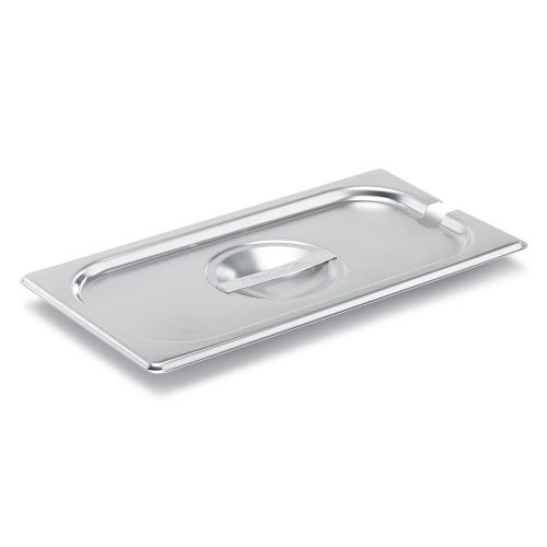 Third Size Stainless Steel Food Pan Cover, Notched