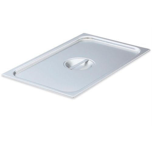 Ninth Size Stainless Steel Food Pan Cover, Notched