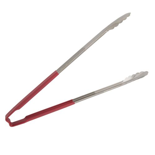 Spring-Less Utility Tongs with Red Color-Coded Kool Touch Handle