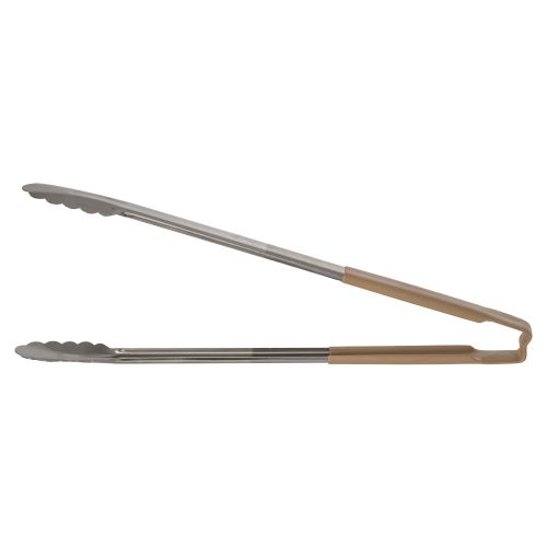 """16"""" Scalloped Utility Tong with Coated Tan Handle"""