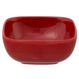 Thunder Group Ps3103rd Melamine 5 Oz Rounded Square Bowl Passion Red