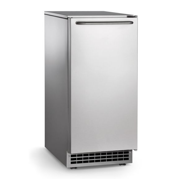 85 Lb Undercounter Pearl Ice Machine w/ 22 Lb Built-In Bin - Self-Contained Air-Cooled