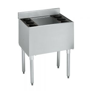 Insulated Ice Bin, 36 x 18 x 12 Deep, with Cold Plate, S/S