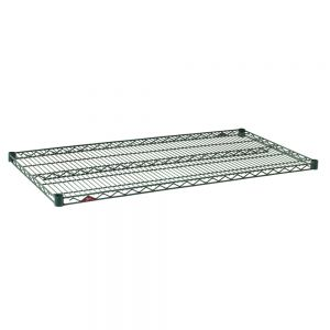 Green Epoxy Shelf, 24 x 42 Inch Wire Shelf