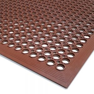 Light Grease Resistant Mat 3x5 Beveled Edge Red