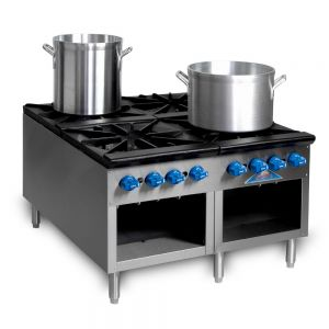 Stock Pot Range, Gas, 36 Inches