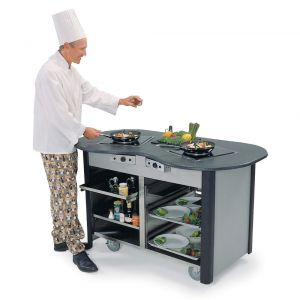 Creation Station Mobile Cooking Cart, 60 x 32 x 35-3/4
