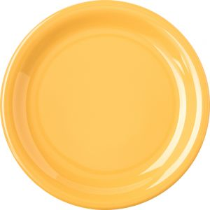 Honey Yellow Salad Plate 7-1/4 Inch Melamine Durus Ware, Case of 48