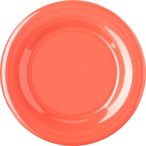 Wide Rim Melamine Durus Ware Sunset Orange Dinner Plate 10-1/2 Inch, Case of 12
