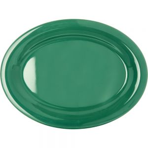 Durus Ware Meadow Green Oval Melamine 12 Inch Platter, Case of 12