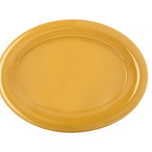 Durus Ware Honey Yellow Melamine 12 Inch Platter, Case of 12