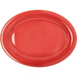 Durus Ware Sunset Orange Melamine 12 Inch Platter, Case of 12