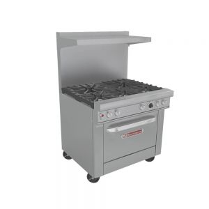 Ultimate Restaurant Range, Gas, 6 Burners, 36 Inches