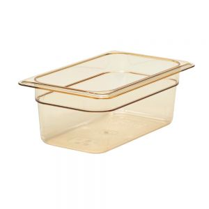 "Cambro 44HP150 1/4 Size H-Pan™ High Heat Food Pan 4"" Deep"