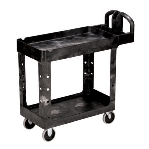 Utility Cart, Heavy Duty Cart, 500 Lb. Capacity, Black