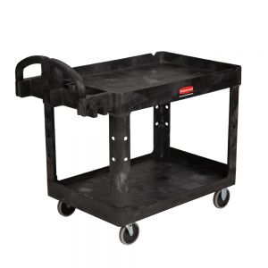 Utility Cart, Large Heavy Duty Cart, 500 Lb. Capacity, Black