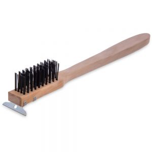 """20"""" Brush and Scraper with Carbon Steel Bristles"""