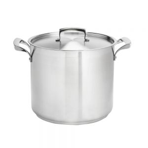 Thermalloy Stock Pot, 12 Qt. Stainless Steel Stock Pot, Induction Ready