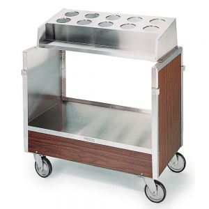 Tray & Silver Cart, One Stack With Pan Type Silver Dispenser, For 16x22 Trays