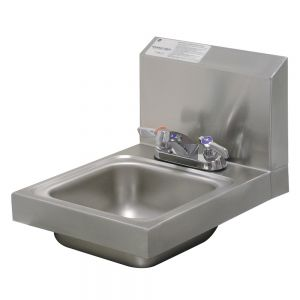 Hand Sink, Wall Model, 9 x 9 x 5 Bowl, Deck Mount Faucet
