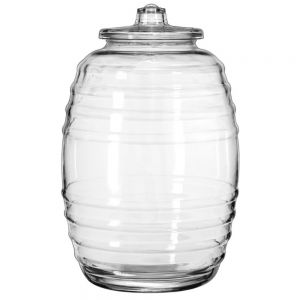 Glass Barrel Jar, 20 Liter, With Lid