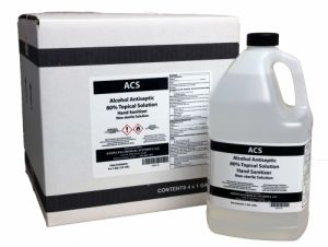 ACS 2626150 Alcohol Antiseptic 80% Topical Solution Hand Sanitizer - 1 Gallon