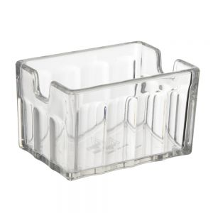 Fluted Sugar Caddy, Clear