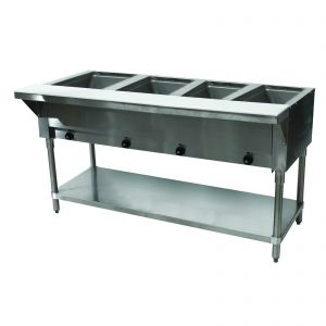 Electric Hot Food Table - 4 Wells, 240V