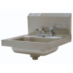 Hand Sink, Wall Model, 14 x 10 x 5 Bowl, 20 Gauge Stainless Steel