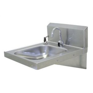 Physically Challenged Hand Sink, Wall Model, 14 x 16 x 6-1/4 Bowl, Electronic Faucet