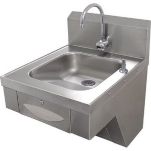 Physically Challenged Hand Sink, Electronic Faucet, Soap/Paper Towel Dispensers