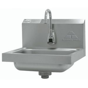 Hand Sink, Wall Model, 14 x 10 x 5 Deep Bowl, Electronic Faucet