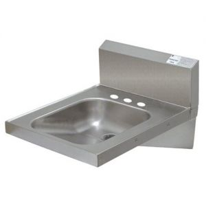 Physically Challenged Hand Sink, Wall Model, 14 x 16 x 6-1/4 Deep Bowl, No Faucet (3 Hole Punched)