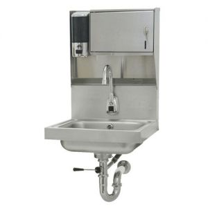 Hand Sink, Wall Model, 14 x 10 x 5 Deep Bowl, Electronic Faucet, Lever Drain