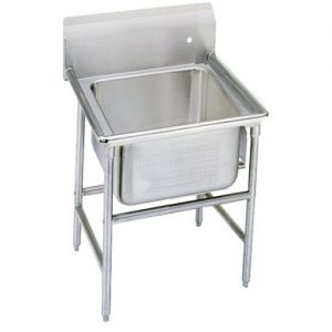 Regaline One Compartment Sink, 20 x 20 x 14 Bowls, 14/304 Stainless Steel, 29 Inches