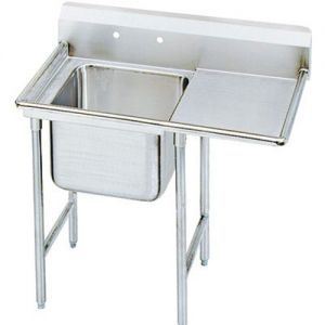 Regaline One Compartment Sink, Right Drainboard, 18/304 Stainless Steel, 66 Inches