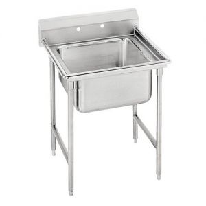 Regaline One Compartment Sink, 28 x 20 x 12 Bowls, 18/304 Stainless Steel, 29 Inches