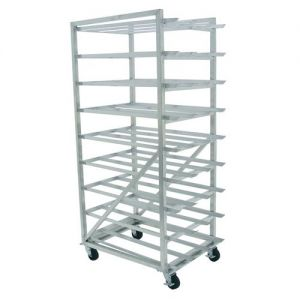 Mobile Can Rack, (162) #10 cans or (216) #5 cans, Aluminum