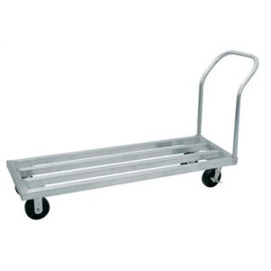 Mobile Dunnage Rack, 20 x 60 x 9.25 Inch, 6 Inch Casters, 2400 lb. Load Capacity